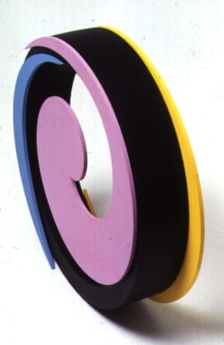 Clifford Singer, 1990, Spiral, acrylic on plexiglas and wood, 12 x 15 inches