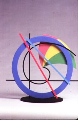 Clifford Singer, Conchoid, 1988, acrylic on wood, Plexiglas and vinyl, 12 x 15 x 8 inches