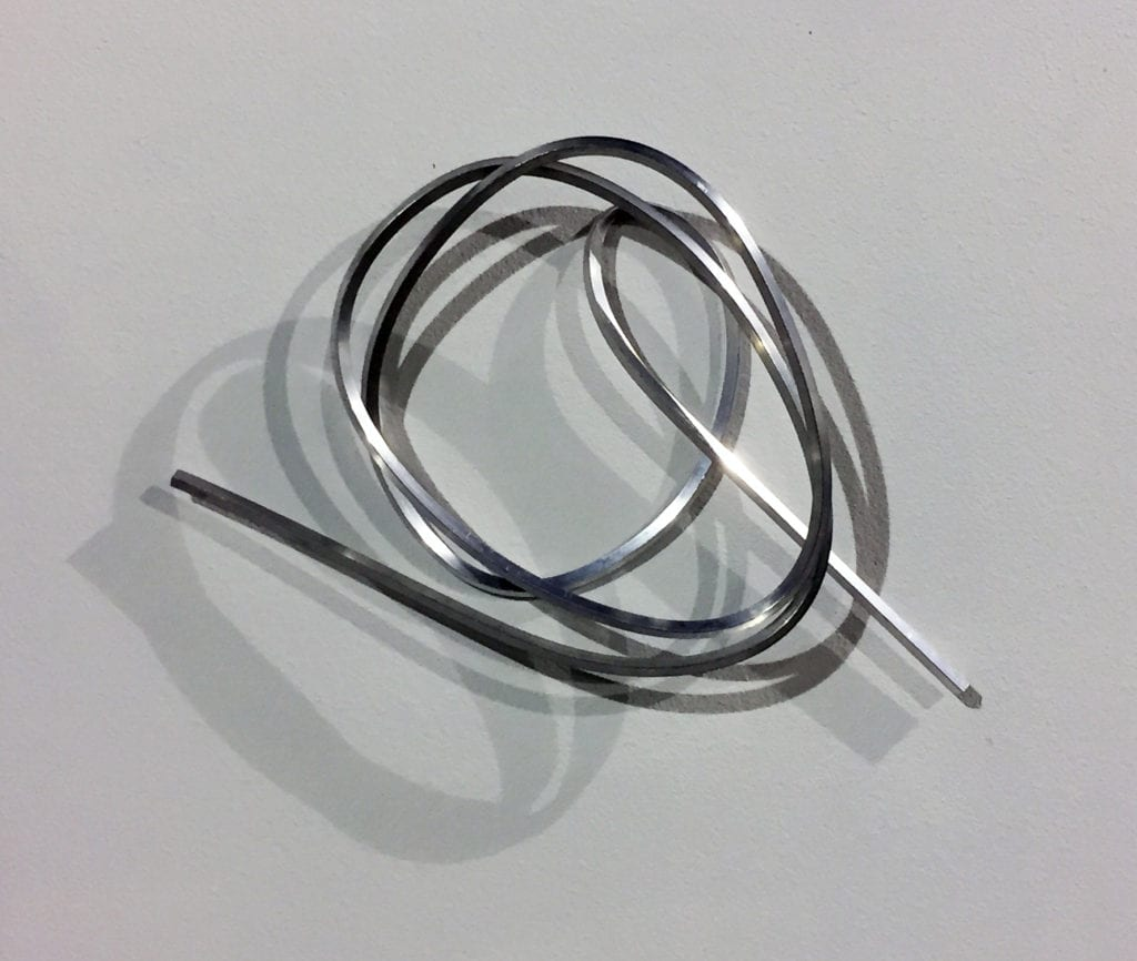 Clifford Singer, 2018, Determinate Strophoid Line, 21 x 30 x 5 inches, square aluminum tube