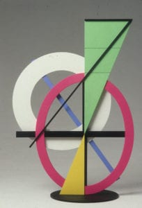 Clifford Singer, Newton's Synod, 1988, acrylic on Plexiglas, 18 x 10 x 8 inches