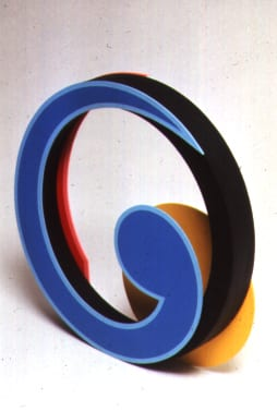 Clifford Singer, Jupiter, Lincoln Center, 1990, Limited Edition, silkscreen on Sintra, hand painted wood, 12 x 15 x 4 inches